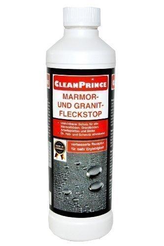 cleanprince marmor und granit fleckstop 500 ml impr gnierung feinsteinzeugboden marmorboden. Black Bedroom Furniture Sets. Home Design Ideas