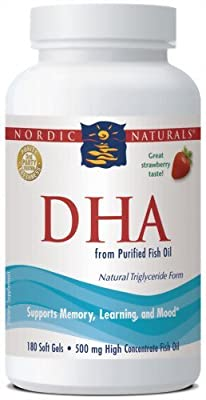 Nordic Naturals - DHA Strawberry - 180ct (Pack of 3)