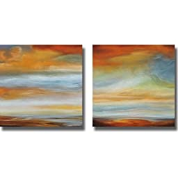 Earth and Sky I & II by Matt Russell 2-pc Premium Gallery Wrapped Canvas Giclee Art Set (Ready-to-Hang)