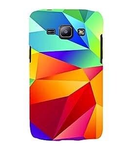 MULTICOLOURED DIAMOND SHAPED PATTERN 3D Hard Polycarbonate Designer Back Case Cover for Samsung Galaxy J1 :: Samsung Galaxy J1 J100F (2015)