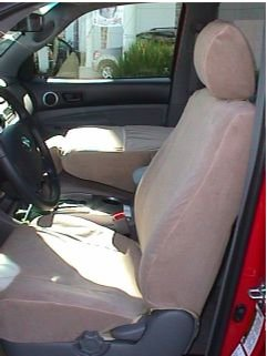 Durafit Seat Covers, T914-Tan Toyota Tacoma SR5 Front Bucket Seat Covers in Tan Velour (Tacoma Seat Covers Trd compare prices)