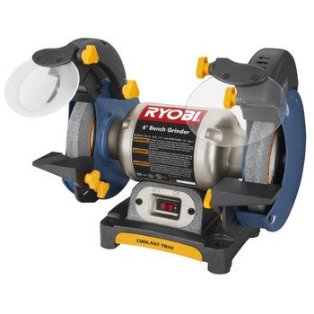 Prime Discount Factory Reconditioned Ryobi Zrbgh616 Bench Grinder Gmtry Best Dining Table And Chair Ideas Images Gmtryco