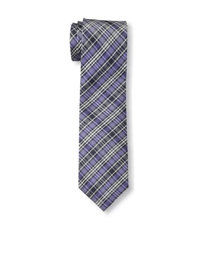 Ben Sherman Men's Loomis Plaid Tie, Purple