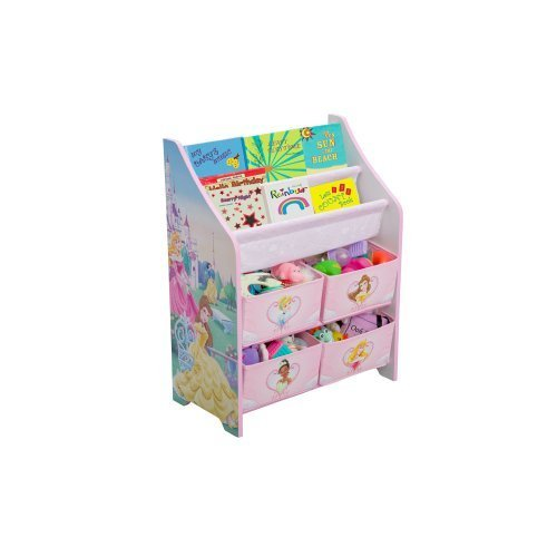 Disney princess book and toy organizer by delta enterprise for Toy and book storage
