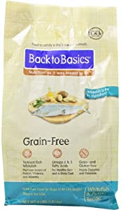 Back to Basics Grain-Free Dry Dog Food, Whitefish and Potato Recipe, 4-Pound Bag