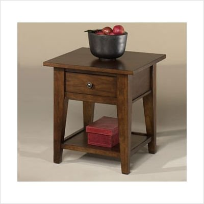 Cheap Hammary T2007221-99 American Mix Rectangular Drawer End Table in Tobacco (T2007221-99)