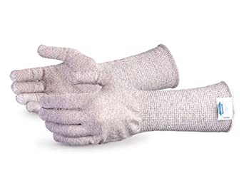"Superior S13DYF3D6 Dyneema/Fiberglass PVC Dotted Slabbers String Knit Glove with 6"" Cuff, Work, Cut Resistant, 13 Gauge Thickness, X-Large (Pack of 1 Pair)"