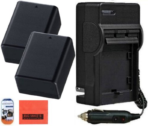 Pack Of 2 BP-718 Batteries Fully Decoded & Battery Charger for Canon Vixia HFM50 HFM52 HFM500 HFR30 HFR32 HFR300 HFR40 HFR42 HFR400 HFR50 HFR52 HFR500 Camcorder + More!!!