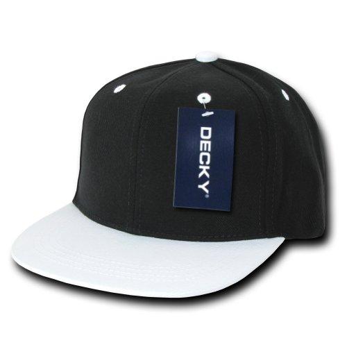 DECKY Two Tone Snap Back Flat Bill Caps Baseball Hat