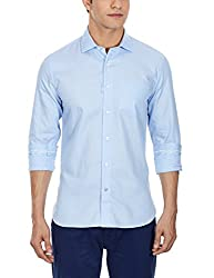 Punctuate Men's Casual Shirt (0666995109816_PNS161033_large_Aqua)