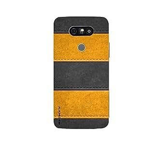 RICKYY _G5_1031 Printed Matte designer Black amp Yellow case for LG G5