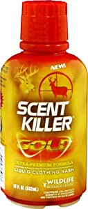 Wildlife Research Scent Killer Gold Liquid Clothing Wash, (18-Ounce) by Wildlife Research