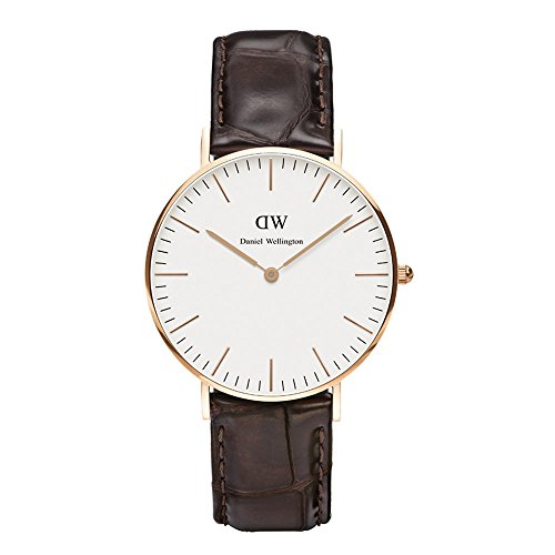 Daniel Wellington Women's Quartz Watch Classic York Lady 0510DW with Leather Strap