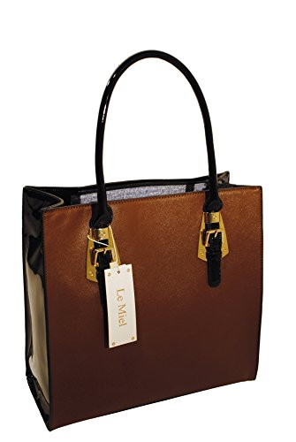 Le Miel Carry All Patent Handbag Tote (Miel Hand Bag compare prices)