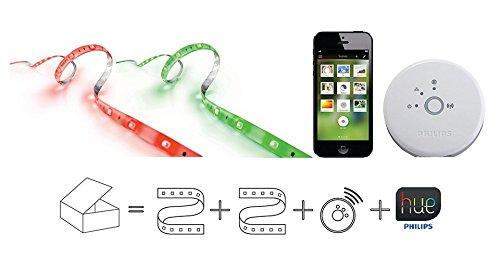Philips Hue Wireless Lighting Lightstrip Starter Kit (Hue Lightstrips Starter Kit compare prices)