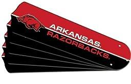 Ceiling Fan Designers 7990-ARK New NCAA ARKANSAS RAZORBACKS 52 in. Ceiling Fan Blade Set
