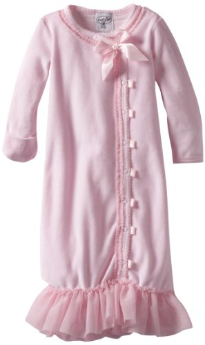 Mud Pie Baby-girls Newborn Velour Sleeper Gown