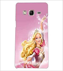 PrintDhaba Barbie Doll D-1015 Back Case Cover for SAMSUNG Z3 (Multi-Coloured)