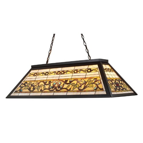 B001VO44XS Landmark 70023-4 Tiffany Game Room-Lighting 4-Light Billiard Light, 18-Inch, Tiffany Bronze Metal