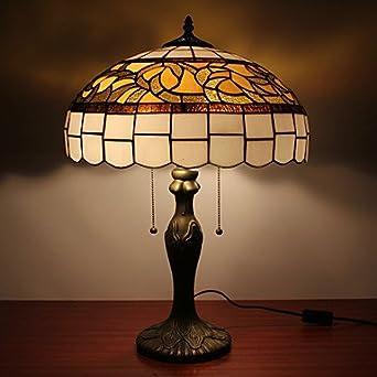 Lampade da tavolo tiffany con 2 lampade con paralume in vetro placcano finitura - Amazon lampade da tavolo ...
