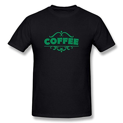 Men'S Designed Tee Fashion Coffee Green Letters L Black