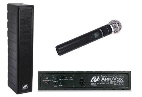 Amplivox Classroom Speaker System - 50 Watt Amplified Speaker With 16 Channel Uhf Wireless Handheld Microphone