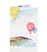 Hot Air Balloons Retirement Greetings Card