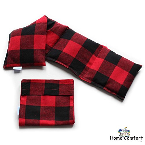 Microwavable Heating Pad with Washable Bag (Red Plaid w/bag) (Rice Heat Bag compare prices)