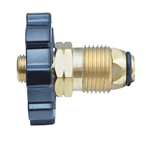 Onlyfire 5041 Soft Nose POL Propane Gas Fitting Adaptor with Excess Flow X 1/4 Inch Male Pipe Thread , Brass (Propane Tee Connector compare prices)