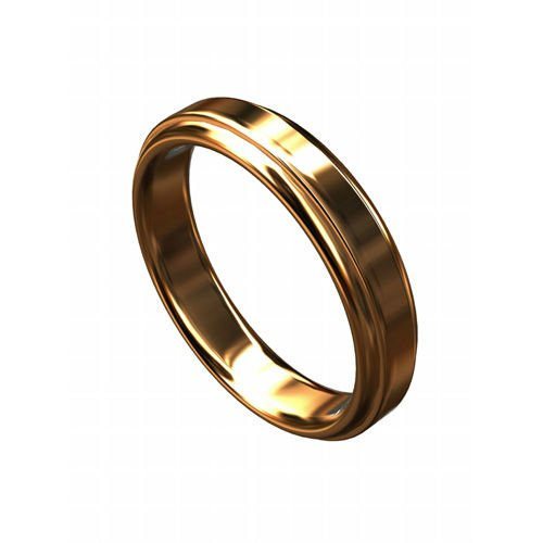Solid 14K Pink Gold Classic Wedding Band 4mm Wide