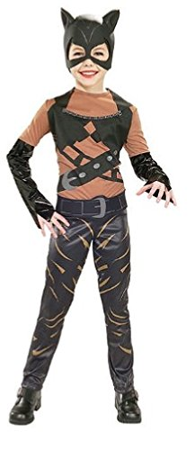 Girls Catwoman Costume - Child Large