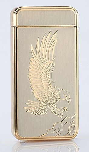 best-electric-lighter-cjoy-usb-rechargeable-electronic-arc-lighters-no-flame-eagle-gold-gifts-for-sm