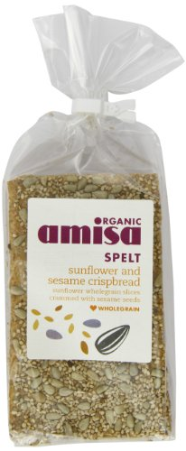 Amisa Organic Spelt Sesame Sunflower Crispbread 200 g (Pack of 6)