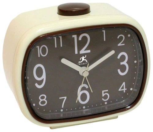 Infinity Instruments That 70's Clock - Brown Alarm Clock