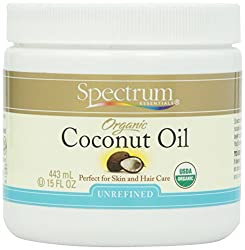 Spectrum Organic Unrefined Coconut Oil For Body & Hair -- 15 fl oz