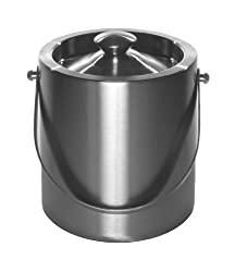 Mr. Ice Bucket 261-1 Brushed Stainless-Steel Ice Bucket, 2 Quart