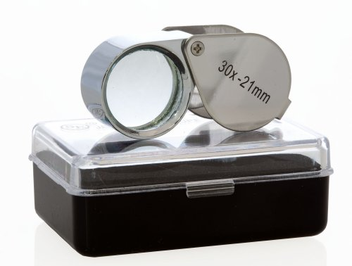 SE - Loupe - Doublet, Chrome Plated, Round Body, 30x, 21mm, 2 Pk: Jewelry