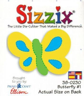 Sizzix Butterfly # 1 small original 38-0230 - 1