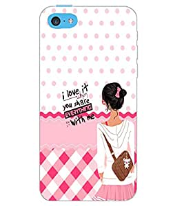 PrintDhaba QUOTE D-6191 Back Case Cover for APPLE IPHONE 5C (Multi-Coloured)