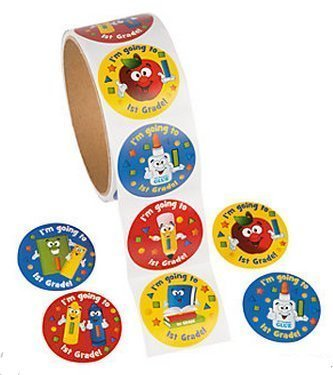 I'm Going to 1st Grade Stickers (100 Count) - 1