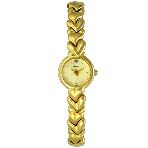 Bulova Women's 97S59 Gold-Tone Bracelet Watch