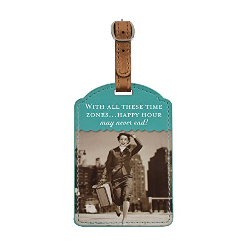 Shannon Martin Girl Designer Luggage Tag, Time