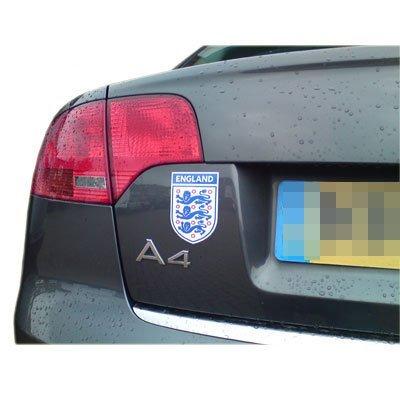Badge Voiture / Van Magnétique Petite Coupe du Monde Officiel Angleterre 3 Three Lions