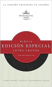 RVR 1960 Biblia Letra Grande Edición Especial con Referencias, negro