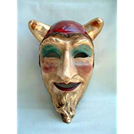 Si Lucia Masquerade Diavolo Franco Red Carnival Mask