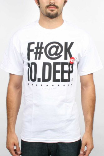 10 Deep - Mens Farg Deep T-Shirt, Tee In White, Size: Large, Color: White
