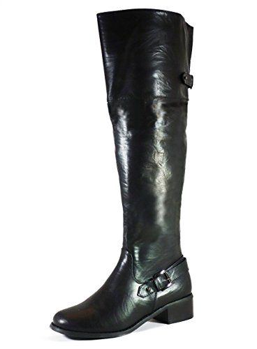 Reneeze Classic Riding High Boots - 18 Inch,Rnz Honey02 Black 7H