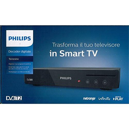 DECODER PHILIPS HD DTR3030M DVBT2 +SCHEDA MEDIASET RICARICABILE 15 GG DI VISIONE SOLO CINEMA,SE SI ABBONA -99 € SCONTO
