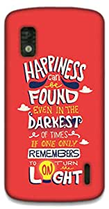 The Racoon Lean Happiness hard plastic printed back case / cover for LG Nexus 4