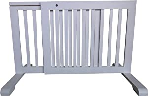 MDOG2 Free Standing Pet Gate, 23.6-Inch to 39.4-Inch by 20.1-Inch by 21.6-Inch, White